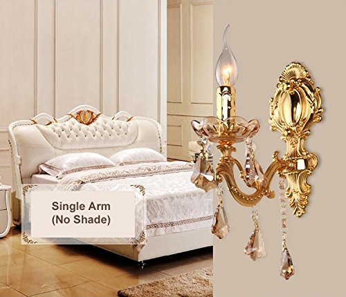 Crystal Wall Bracket - OAKLIGHTING Modern Gold Crystal Candle Stick Wall Sconces Lights Lamps 9.8