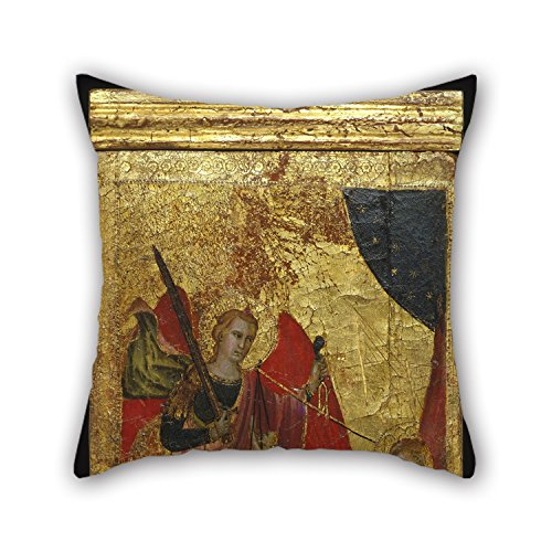 Bestseason Oil Painting Lorenzo Di Niccolò - Saint Lawrence Intercedes For The Soul Of Emperor Henry II Throw Pillow Covers Best For Lover Valentine Son Father Office Home Theater 18 X 18 Inches /