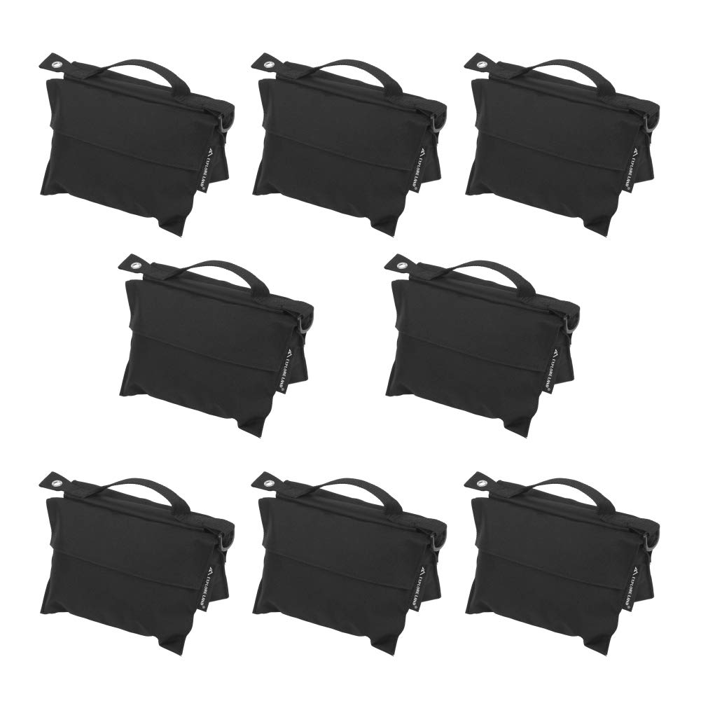 Explore Land Photography Sand Bag Professional Saddle Weight Bag Photo Video Studio Stand, Without Sand (8 Pack)