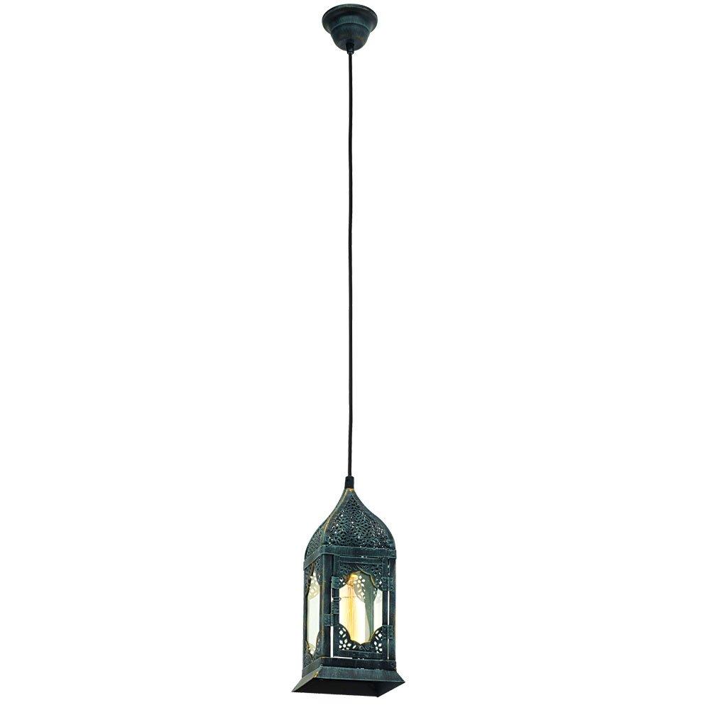 Vintage Decken Hänge Lampe Gäste Schlaf Zimmer Glas Strahler Pendel Leuchte grün