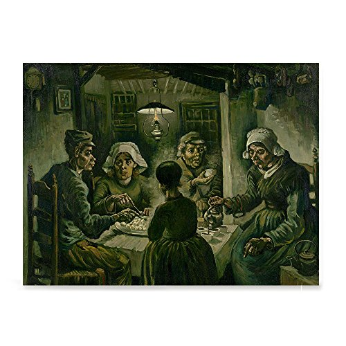 (EzPosterPrints - Vincent Van Gogh Art Reproduction Posters - Poster Printing - Wall Art Print for Home Office Decor - The Potato Eaters - 32X24)