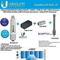 Ubiquiti BulletM2-HP + Antenna HGV-2404U 2.4GHz 4dBi + POE-24 12W + AXA-NFNF