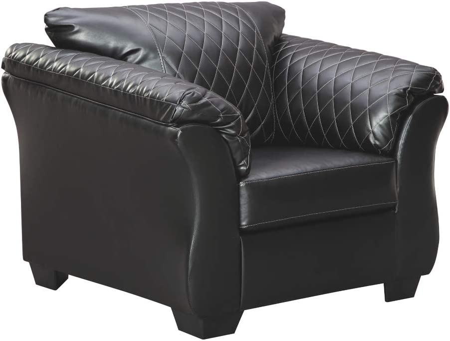 Signature Design by Ashley - Betrillo Modern Faux Leather Chair, Gray