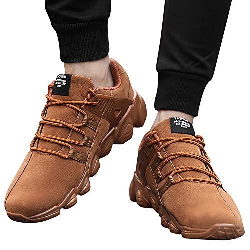 Casuales para Hombres Zapatos Masculinos Zapatos Comodos Toamen Moda De Marrón Casuales CáLidos B56qwT
