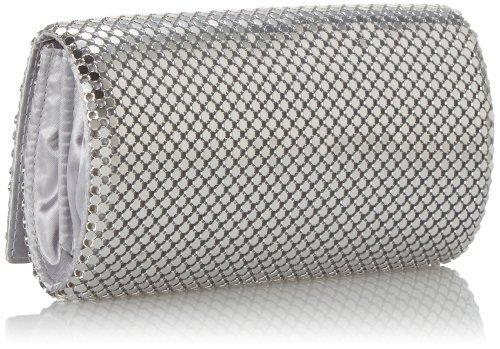 Jessica McClintock Metal Mesh Roll Bag Silver by Jessica McClintock (Image #2)