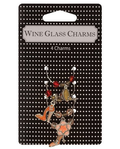 Holiday Wine Martini Glass Charms Party Art (Food And Wine Halloween Cocktails)