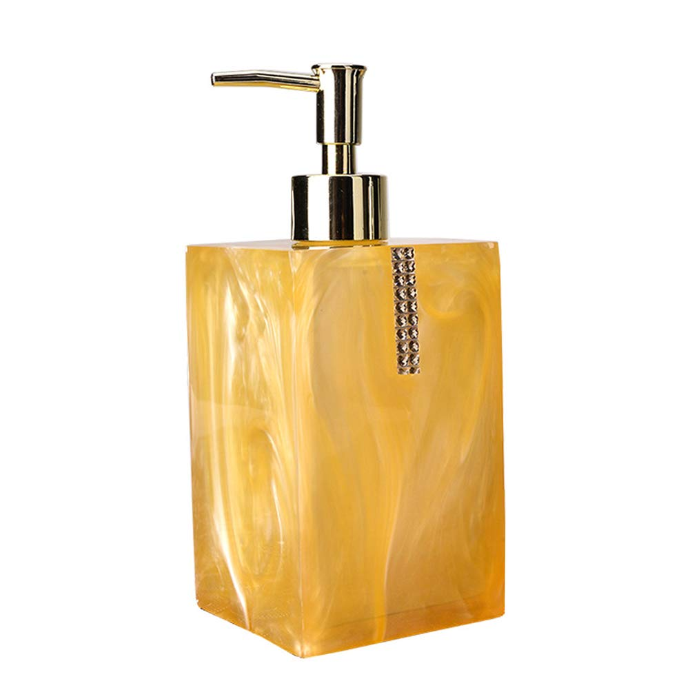 DGSFES Baroque Shells Soap Dispenser with Stainless Steel Pump 550ml Refillable Wash Hand Soap, Ideal for Liquid Soaps, Essential Oils and Lotions-Gold