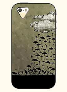 OOFIT Phone Case Design with Clouds and Umbrella for Apple iPhone 5 5s 5g