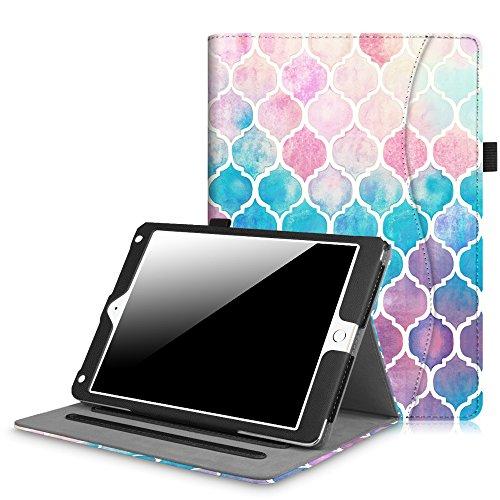 Fintie iPad 9.7 Inch 2017 / iPad Air 2 / iPad Air Case - [Corner Protection] Multi-Angle Viewing Folio Stand Cover w/ Pocket, Auto Wake / Sleep for Apple iPad 2017 Model, iPad Air 1 2, Moroc Love