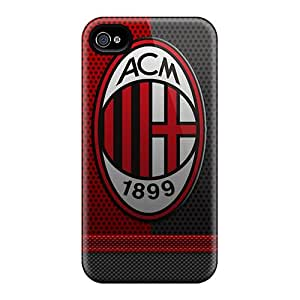 Scratch Resistant Cell-phone Hard Covers For Iphone 6 (cax17732atnd) Support Personal Customs Lifelike Ac Milan Series