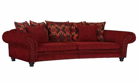 Divano Rosso Cuscini : Mega divano rotondo e piccolo cuscino in tessuto in rosso e