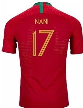 2018-2019 Portugal Home Nike Vapor Match Football Soccer T-Shirt Camiseta (Nani  17)  Amazon.es  Deportes y aire libre f54b74b922809