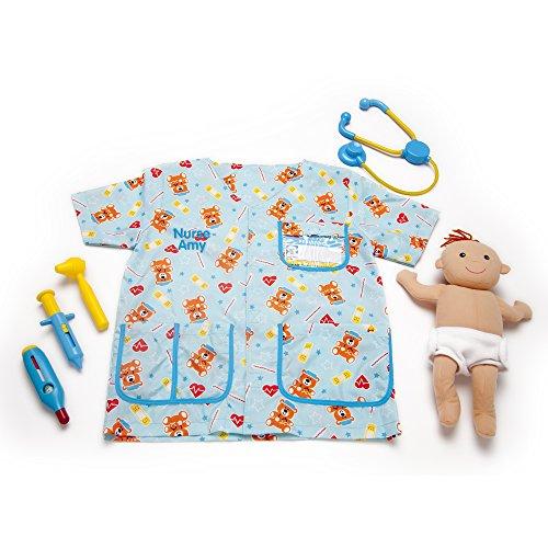 Melissa & Doug Personalized Pediatric Nurse Role Play Costume (8 Pieces) -
