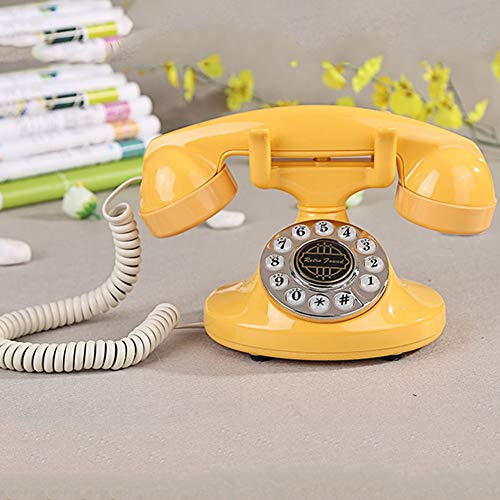 LPYMX Paramount Retro Telephone landline Home Girl Antique Creative Nostalgic Ornaments Telephone landline Photography Decoration (Color : B)