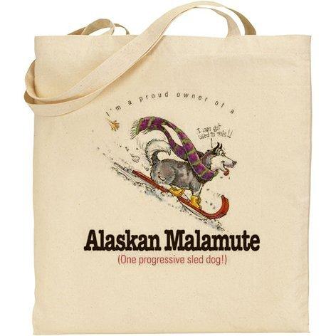AB–umoristico Alaskan Malamute Dog cotone Borsa