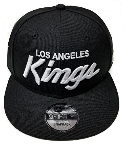 New Era Los Angeles Kings 9Fifty Basic Black and White Vintage Script N.W.A Adjustable Snapback Hat NHL