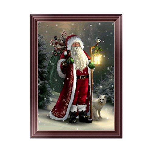 BloomingJS Christmas 5D Diamond Painting Santa Claus Embroid