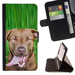 Momo Phone Case / Flip Funda de Cuero Case Cover - Chesapeake Rhodesian Ridgeback perro de Brown; - Samsung Galaxy Note 4 IV