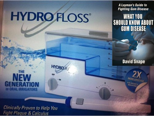 (Hydro Floss Oral Irrigator Plus Book Bundled Package - 2 Items)