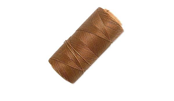 4812237e0e0d Bobina de hilo encerado Linhasita para micro macramé 0,5 mm Old Gold ...