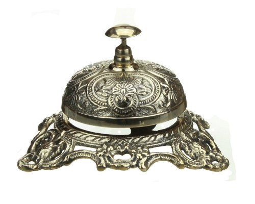 - Ornate Solid Brass Hotel Counter Bell