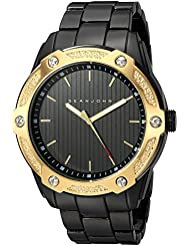 Sean John Mens  Quartz Metal and Alloy Dress Watch, Color:Black (Model: SJC0174004)
