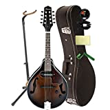 Ibanez M510EDVS A-Style Acoustic-Electric Mandolin Dark Violin Sunburst With Case, Mini Stand, Tuner, Pegwinders, and Polishing Cloth