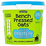 Oomf Bench Pressed Oats Apple, Sultana and Cinnamon Instant Whey Protein Porridge 75 g (Pack of 8)
