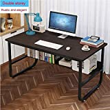 Peigen Computer Desk with Bookshelf -Coffee Desk-Simple Home Desk Student Writing Desktop Desk Modern Economic Computer Desk Writing Desk for Home Office