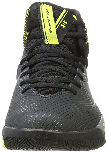 de UA Armour Under Noir Basketball 2 Chaussures Anthracite Rocket Homme dXAxq5w