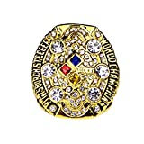 GF-sports store 2008 Pittsburgh Steelers Super Bowl Championship Replica Ring Gift Fashion Gorgeous Collectible Jewelry