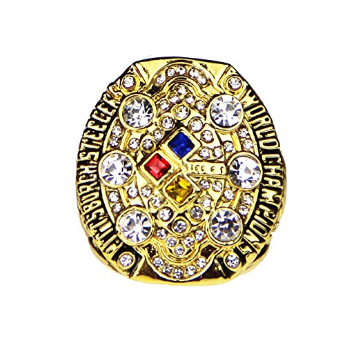 GF-sports store A Set of 6 Pittsburgh Steelers Super Bowl Championship Replica Ring by Display Box Set (2008 Pittsburgh -