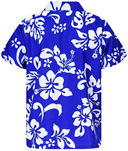 King Kameha Chemise Hawaïenne pour Homme Funky Casual Button Down Very Loud Courtes Unisex Hibiscus