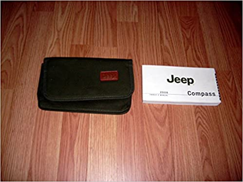 2008 jeep compass owners manual set 08 guide w/case $26. 99.