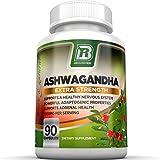 BRI Nutrition Ashwagandha - 90 Count - 1000mg Pure Ashwagandha Root Powder - 2 Veggie Capsules Per Serving .