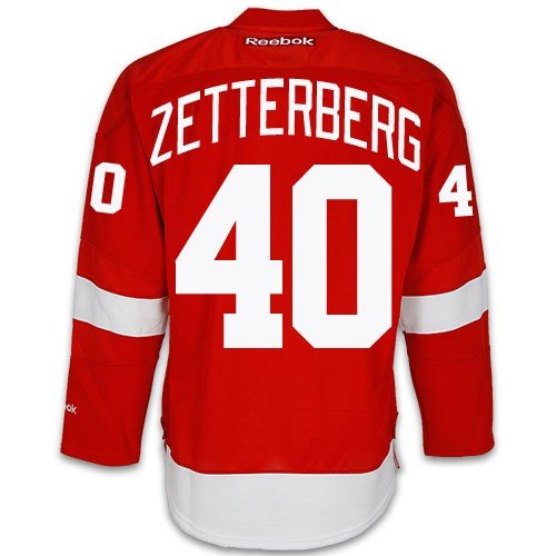 (Henrik Zetterberg Detroit Red Wings Home Jersey by Reebok, Small - SEWN TACKLE TWILL NAME/NUMBER)