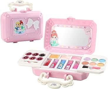 fervory 23PCS Maletin Maquillaje Infantil Juguetes Niña 7 Años Cosméticos Set De Maquillaje Juguetes Kits De Maquillaje Play House Girl Dress Up No Tóxico: Amazon.es: Hogar