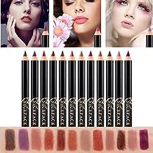 Lip Liner Pencil, Kingfansion 12 Colors Professional Lipliner Makeup Waterproof Lip Liner Pencil Set