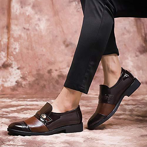 da di uomo lavoro senza scarpe pizzo Mocassini da marrone Rosegal moda qgpwExn5Zd