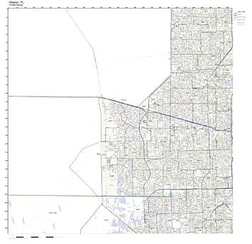 Weston Florida Map.Amazon Com Weston Fl Zip Code Map Laminated Home Kitchen
