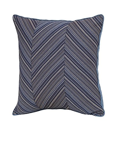 Smith & Hawken Outdoor Deep Seating Back Cushion - Deep Blue Stripe