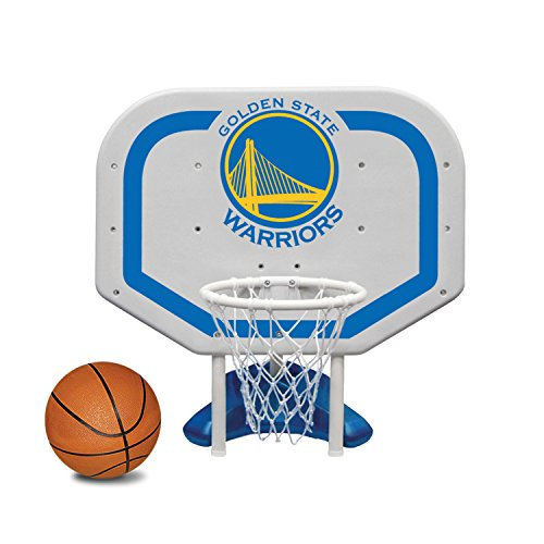 (Poolmaster 72940 Golden State Warriors NBA Pro Rebounder-Style Poolside Basketball Game)
