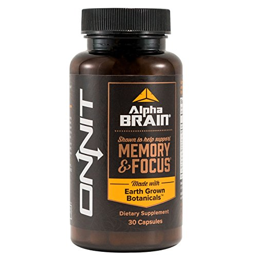 Alpha Brain: Memory, Focus, Energy & Clarity Boosting Nootropic Supplement (30ct) - Clinically Studied Brain Booster with Alpha GPC, L-Theanine, Bacopa, Phosphatidylserine, and More