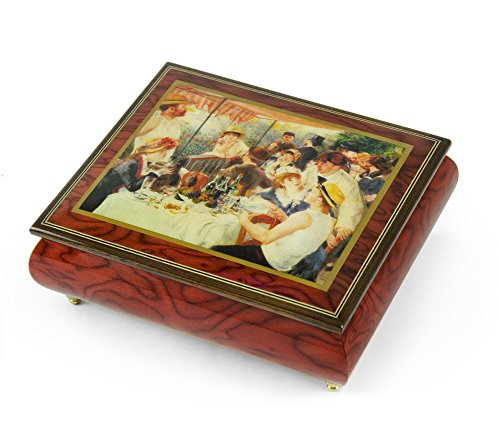 Handcrafted Ercolano Music Box Featuring ''Luncheon of the Boating Party'' by Renoir, Pierre Auguste - California Girls by MusicBoxAttic
