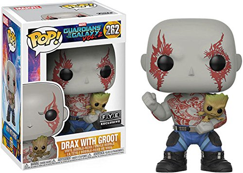 Chest Figurine Set (Funko Pop Guardians of the Galaxy Vol. 2 - Drax with Baby Groot (FYE Exclusive))