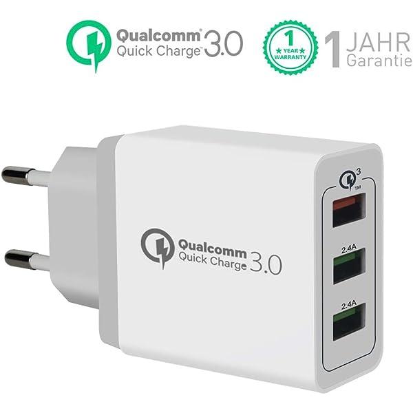 Quick Charge 3.0 Cargador USB de Pared con 30W Qualcomm QC ...