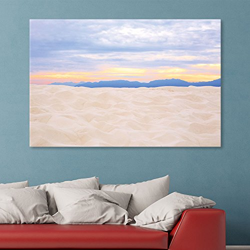 Romantic White Sand Landscape at Sunset Time