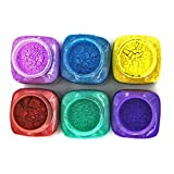 6 Colors Mica Powder Pearl Pigments Soap Dye Slime Pigment (0.7 oz Each) - Soap Making Colorants Set Colorants for Bath Bomb,Candle Making,Eye Shadow,Cosmetic, Nail Art (1)