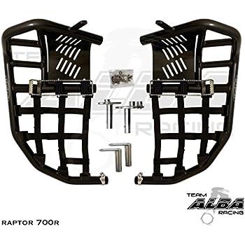 Yamaha RAPTOR 700 2006–2019 700R 2013-2019 Tusk Foot Peg Nerf Bars w Heel Guards
