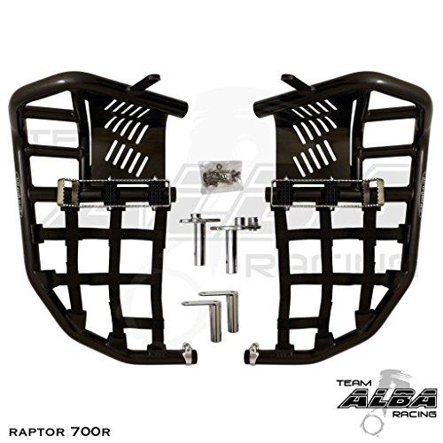 Yamaha Raptor 700 Raptor 700R YFM 700 (2013-2017) Propeg Nerf Bars Black Bars w/ Black Net Raptor 700 Nerf Bars